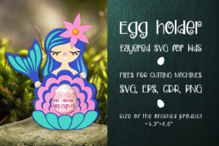 Print on Demand: Mermaid - Chocolate Egg Holder 3D SVG Graphic 3D SVG By Olga Belova