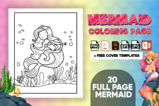 Print on Demand: Mermaid Coloring Book - KDP Interior Graphic Coloring Pages & Books Kids By Kristy Coloring