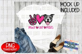 Print on Demand: Peace Love Pittie Pitbull Sublimation Graphic Illustrations By Lori Lou Designs