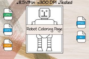 Robot Coloring Page | KDP Interiors Graphic Coloring Pages & Books By Kdp Speed