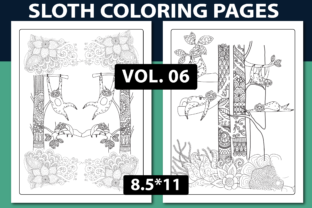 SLOTH COLORING PAGES V.05 - KDP INTERIOR Graphic Coloring Pages & Books By triggeredit