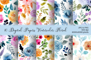 Print on Demand: Seamless Pattern Floral Watercolor 138 Graphic Patterns By asrulaqroni