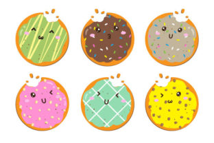 Set of Sweet Cute Cookies Illustration Graphic Illustrations By yellagraphic
