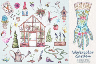 Watercolor Garden Collection Graphic Illustrations By Dapper Dudell