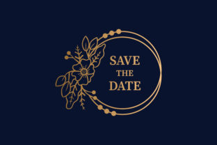 Print on Demand: Circle Save the Date Element Floral Graphic Web Elements By noory.shopper