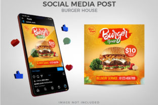 Burger House Promotion Social Media Post Graphic Websites By Eyestetix Studio