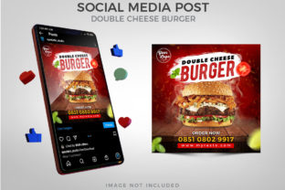 Cheese Burger for Social Media Post Graphic Websites By Eyestetix Studio