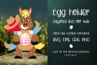 Print on Demand: Cowboy and Horse - Chocolate Egg Holder Graphic 3D SVG By Olga Belova