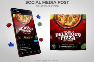 Delicious Pizza for Social Media Post Graphic Websites By Eyestetix Studio