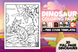 Print on Demand: Dinosaurs Coloring Pages for Kids - Kdp Graphic KDP Interiors By Cute Coloring