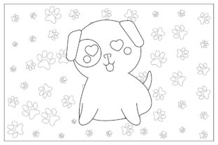 Dog Coloring Pages Graphic Coloring Pages & Books Kids By zia studio