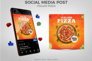 Italian Pizza for Social Media Post Graphic Websites By Eyestetix Studio