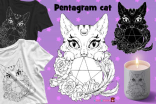Print on Demand: Pentagram Cat Graphic Illustrations By ladymishka