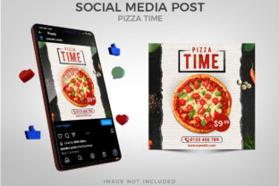 Pizza Time for Social Media Post Graphic Websites By Eyestetix Studio