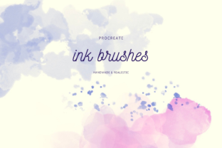 Print on Demand: Realistic Procreate Ink Brush Set Graphic Brushes By lunarctic