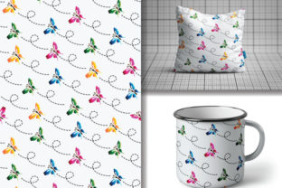 Seamless Pattern Colorful Butterflies Graphic Patterns By lindoet23