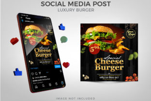 Special Cheese Burger for Social Media Graphic Websites By Eyestetix Studio