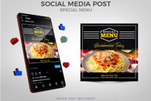Special Food Menu for Social Media Post Graphic Websites By Eyestetix Studio