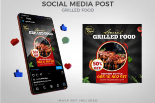 Special Grilled Food for Social Media Graphic Websites By Eyestetix Studio