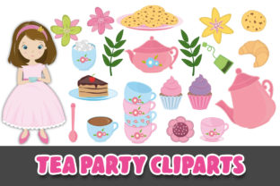 Print on Demand: Tea Party Clipart Graphic Illustrations By Grafixeo