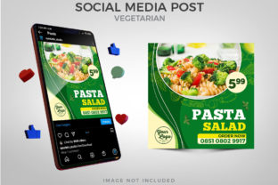 Vegan Menu Promotion for Social Media Graphic Websites By Eyestetix Studio