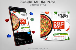Vintage Style Food Social Media Post Graphic Websites By Eyestetix Studio