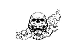 Smoking Skull Designs & Drawings Craft Cut File By Creative Fabrica Crafts