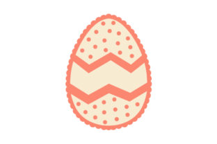 Easter Egg with Scalloped Edge Easter Craft Cut File By Creative Fabrica Crafts