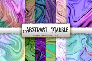 Print on Demand: Abstract Marble Digital Papers Graphic Backgrounds By PinkPearly