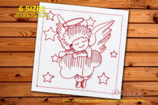 African Angel Lineart Africa Embroidery Design By Redwork101