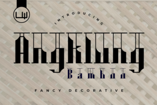 Print on Demand: Angklung Bamboo Display Font By LittleWind Studio