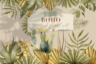 Print on Demand: BOHO Tropical Floral Set Graphic Illustrations By By Anna Sokol