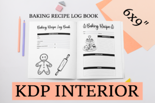 Print on Demand: Baking Recipe Log Book | KDP Interior Graphic KDP Interiors By KDP Mastermind