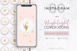 Beauty Instagram Highlight Covers Graphic Icons By Thirty One Palms Studio