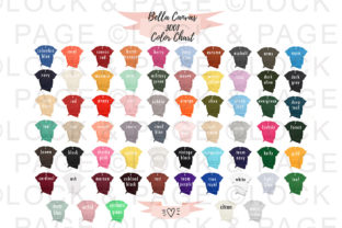 Bella Canvas 3001 Solids Color Chart Graphic Product Mockups By lockandpage