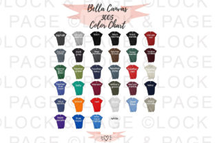 Bella Canvas 3005 Color Chart Mockup Graphic Product Mockups By lockandpage