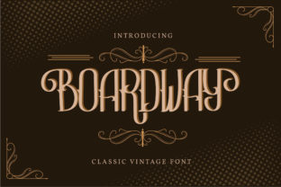 Print on Demand: Boardway Display Font By Vunira