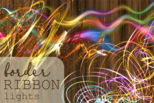 Print on Demand: Border Ribbon Lights Decorative Elements Graphic Backgrounds By Prawny