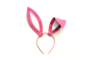 Bunny Costume Ears ITH Headband Slider Easter Embroidery Design By DesignedByGeeks