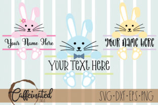 Bunny Name Frame - Boy Girl Bunnies Graphic Crafts By kaitlynplynch
