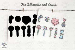 Candies Stickers. Printable 9  Design. Graphic Illustrations By OK-Design 3