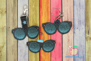 Classic Sunglasses ITH Keyfob Design Accessories Embroidery Design By embroiderydesigns101