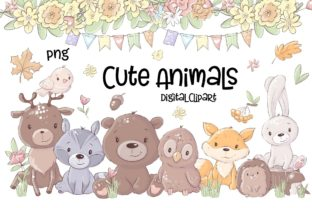 Clipart Cute Woodland Animals Graphic Illustrations By Afrin_Art