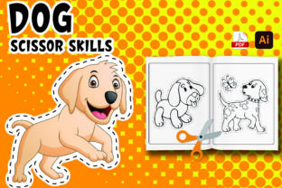 Dog Scissor Skills Coloring Book Vol-1 Graphic Coloring Pages & Books Kids By Moonz Coloring