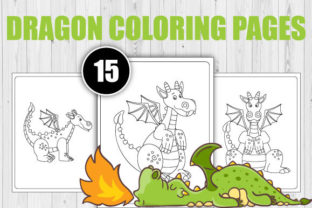 Print on Demand: Dragon Coloring Pages for Kids Graphic Coloring Pages & Books Kids By TrendColors
