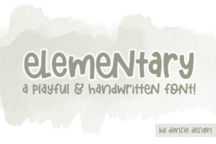 Print on Demand: Elementary Script & Handwritten Font By dansiedesign