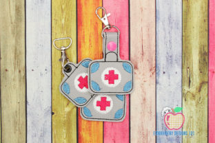 First Aid Kit ITH KeyFob Snaptab Work & Occupation Embroidery Design By embroiderydesigns101