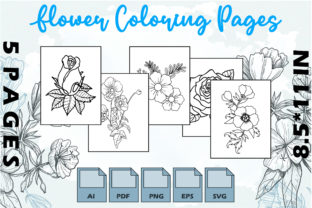 Flower Coloring Pages VOL 1 | KDP Graphic Coloring Pages & Books Adults By Kdp Speed