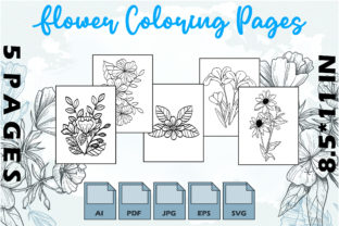 Flower Coloring Pages VOL 2 | KDP Graphic Coloring Pages & Books Adults By Kdp Speed