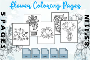 Flower Coloring Pages VOL 4 | KDP Graphic Coloring Pages & Books Adults By Kdp Speed